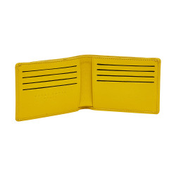Portefeuille-porte cartes jaune - interieur