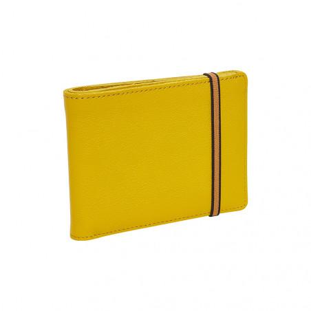 Portefeuille-porte cartes jaune - face