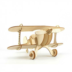 Avion en bois à construire, Agent Paper - 3/4
