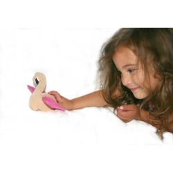 Figurine flamant rose flamingo, Paulette et Sacha - illustration 2
