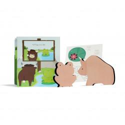 Fable animée - la grenouille et le bœuf, Paulette et Sacha, illustration 1