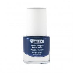 Vernis à ongles bleu nuit pelable à base d'eau Namaki