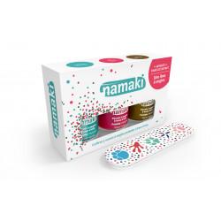 Coffret 3 vernis : caraïbes-corail-bronze + lime Namaki - vue 2