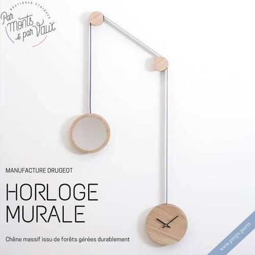 Cette horloge miroir apportera une touche tendance à votre intérieur !   Confectionnée en Maine et Loire 🇫🇷, la manufacture écoresponsable Drugeot allie parfaitement savoir-faire traditionnel et pièces designs !   Plus d'informations sur notre e-shop 👉🏻www.pmpv.paris/  #pmpv #pmpvparis #ecoresponsable #drugeot#horloge#horlogemurale#horlogemiroir#design#artisanat#savoirfaire#bois#eshop#boulognebillancourt#cadeau#ideecadeau#noel
