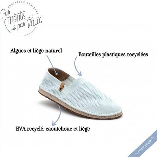 Vous allez adorer nos espadrilles éco-conçues à partir de matériaux recyclés ♻ !   Le dessus de la chaussure est tricoté à l'aide de 4 bouteilles plastiques recyclées ! Pour une semelle extérieure et intérieure souple et confortable, ce sont du liège, des algues naturelles et de l'EVA recyclé qui ont été choisis pour la fabrication.   Et pour ne rien leur enlever, elles sont super légères et confortables !   Vous ne les quitterez pas de l'été ! ☀️   Plus d'informations sur notre e-shop 👉🏼 www.pmpv.paris  #pmpv#pmpvparis#conceptstore#ecoresponsable#vegan#espadrilles#ecoconçu#plastiquerecyclé#saola#shoes#boulognebillancourt